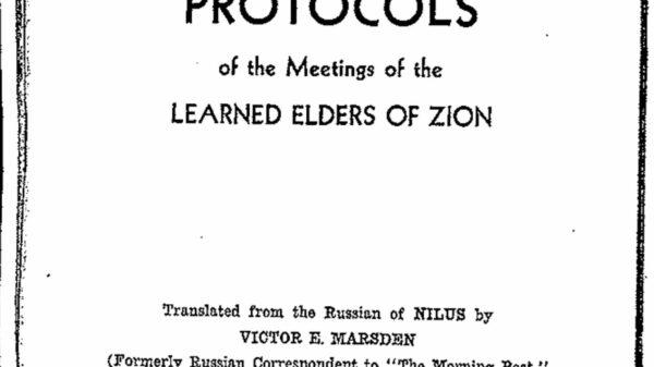Sobre los 'Protocolos de los Sabios de Sion' que publicó el FBI