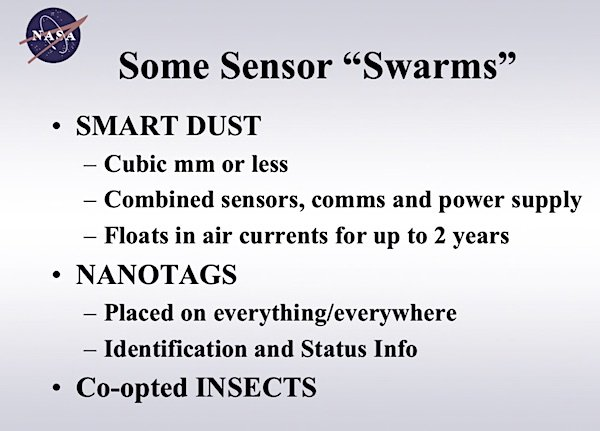 sensor swarms nasa