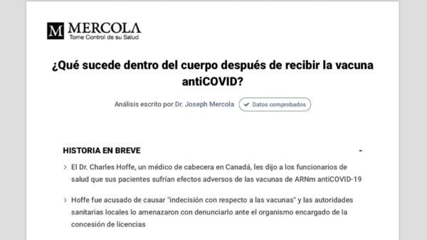 Dr. Mercola: ¿Qué sucede dentro del cuerpo después de recibir la vacuna antiCOVID?