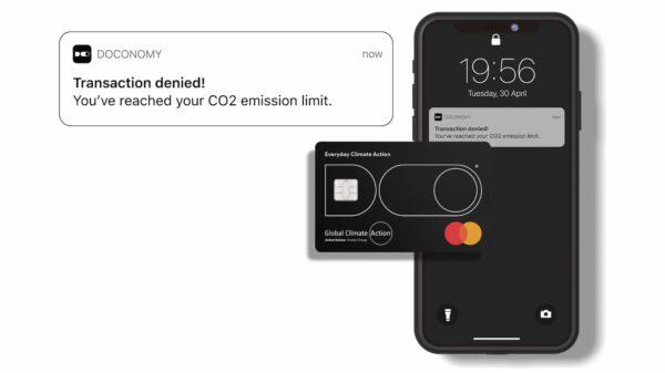 Doconomy: La tarjeta de crédito que denegará tus transacciones cuando excedas tu límite de emisiones de CO2