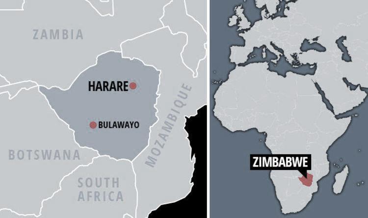 mapa de zimbabwe