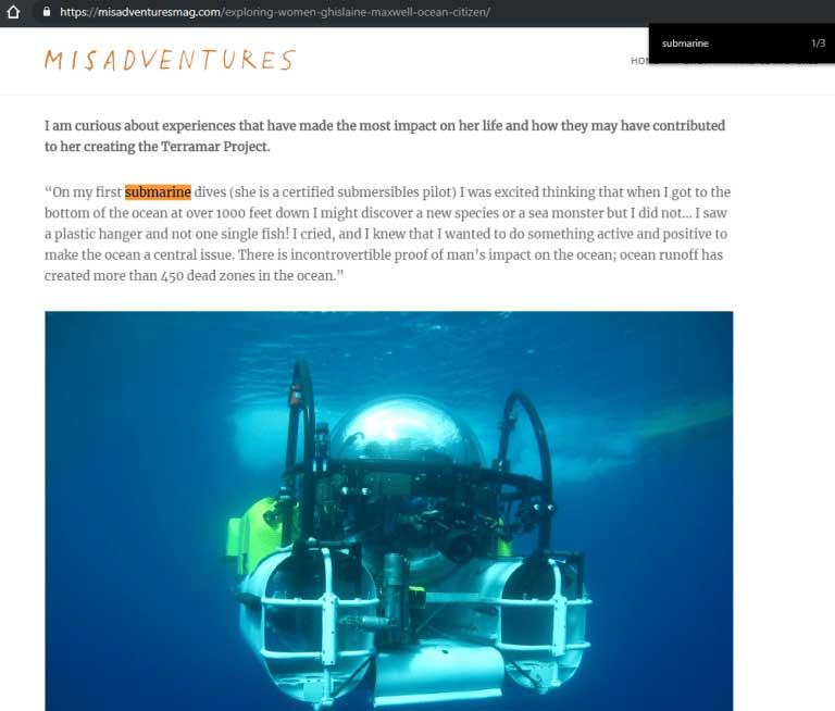 maxwell piloto submarino