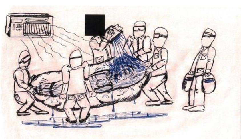 Veteranos de guerra filtran dibujos de torturas practicadas por la CIA y Marines estadounidenses